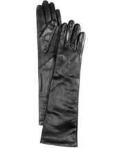 Charter Club Long Leather Tech Gloves (Black, S) - $49.47