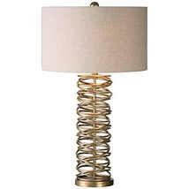 Uttermost 26609-1 Amarey Metal Ring Table Lamp, Champagne - $261.80