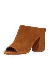 Givenchy Paris Suede Mule Sandals, Hazelnut Size 41 - $415.80