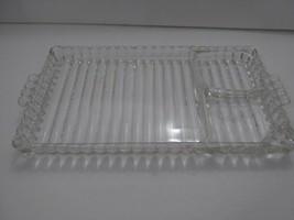 VINTAGE HAZEL ATLAS CLEAR GLASS Snack Smoke Ash Tray 50s - £6.18 GBP