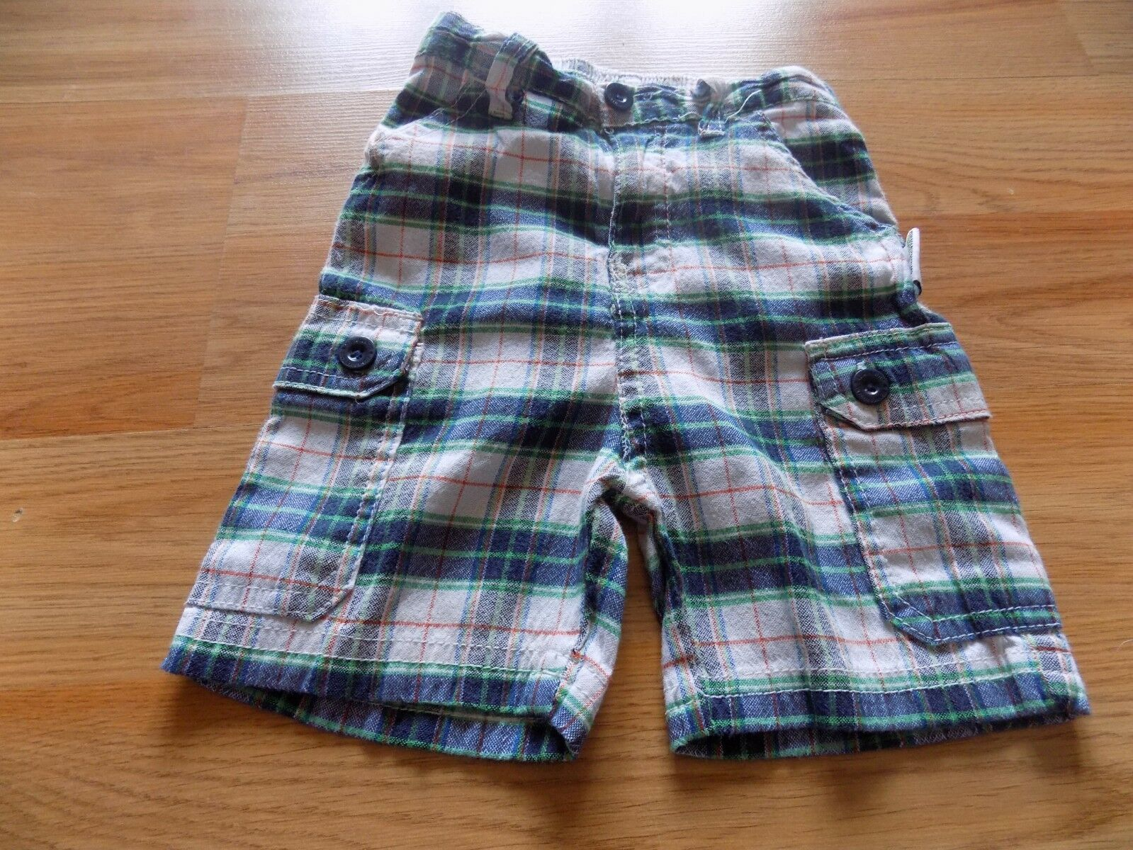 Primary image for Size 2T Nickelodeon Teenage Mutant Ninja Turtles Plaid Shorts White Green Navy