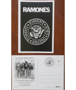 RAMONES Classic Debut Album 1976-2016 40th Anniversary Promo Postcard, new - $3.95