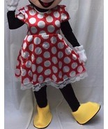 Minnie Mouse Disfraz Adulto Body Halloween Cumpleaños Disney Rojo Comple... - $79.54