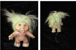Vintage Troll Doll Figure Cute green hair - $24.99