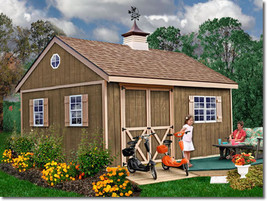 Best Barns New Castle 16x12 Wood Storage Shed Kit - ALL Pre-Cut - $2,795.00