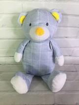 The Manhattan Toy Company Pattern Barrett Teddy Bear Plush Blue White Ch... - $39.59