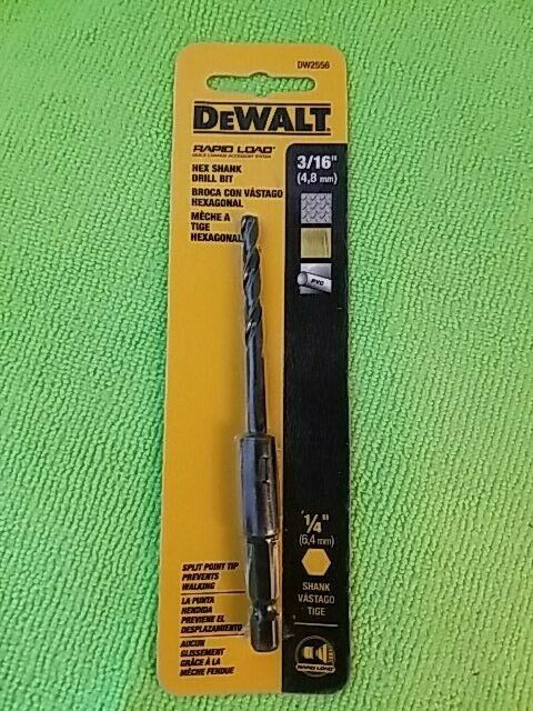 Primary image for DeWalt DW2556 Rapid Load 3/16 in. x 4 in. L High Speed Steel Drill Bit 1 pc