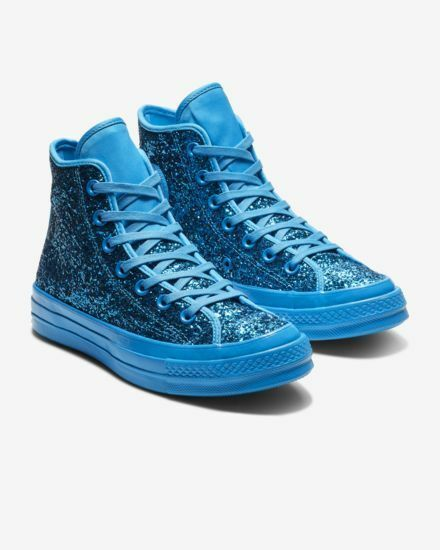 NIB*Converse Chuck 70 After Party Glitter High Top Sneakers*Blue Hero*6-11