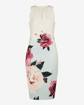 Ted Baker Annile Magnificent Ruched Bodycon Floral Rose Dress 4 US 12 UK 14 - $132.99