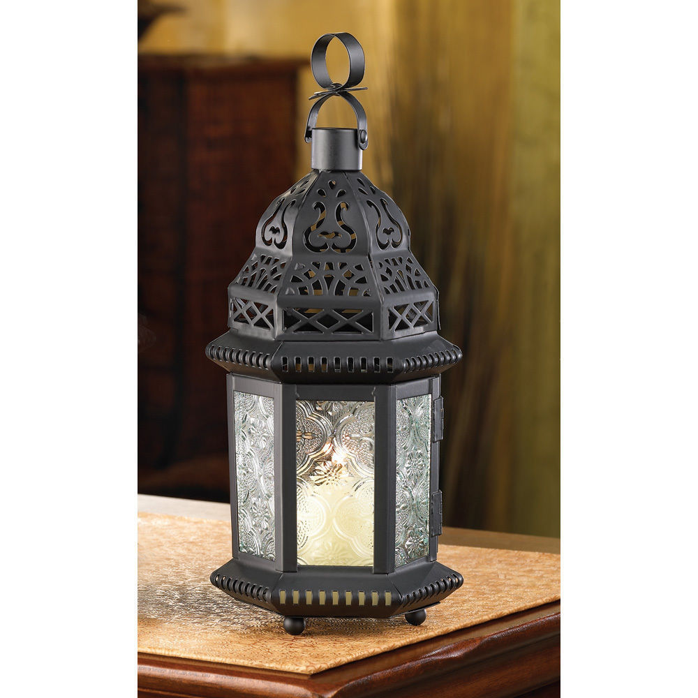 20 CLEAR MOROCCAN IRON GLASS CANDLE LANTERNS PARTY EVENTS WEDDING CENTERPIECE