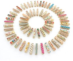 100pcs Zicome Mini Colorful Natural Wooden Photo Paper Peg Pin Clothespi... - $12.66
