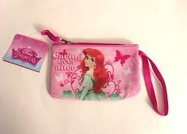 "Disney Princess ""Caring Ever After"" Wristlet Coin Purse Pink Zipper"