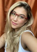 New Vintage ALAIN MIKLI AL 1105 0004 54mm Red Wire Semi-Rimless Eyeglass... - $349.99