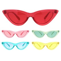 Girls Kid Size Gothic Cat Eye Pimp Color Lens Plastic Sunglasses - $9.95