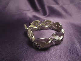 Vintage Silver Tone Crown Trifari Panel Bracelet Designer Signed - $29.70