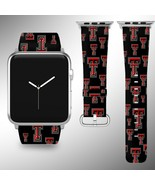 Texas Tech Red Raiders Apple Watch Band 38 40 42 44 mm Fabric Leather St... - $29.97