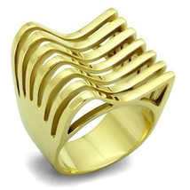 Hope Chest JEWELRY- Women's 22MM Gold Tone Stainless Steel Wide Band Ring Size 7 - $16.49