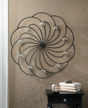 Iron & Glass Pinwheel Design Candle Wall Sconce - $49.95