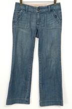 Gap Limited Edition Jeans 4A Blue Denim Bootcut Wide Leg Square Button Pockets - $17.81