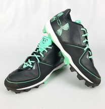 Under Armour Light Green Black Cleats Pre Owned Size 7.5 - $28.12
