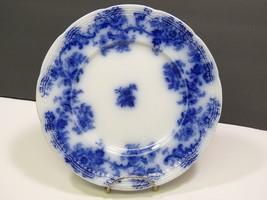"Lancaster England Flow Blue 9"" Plate New Wharf Pottery 1891  - $47.52"