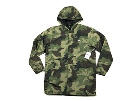 Obey Mens M Army Green Camo Singford Stadium II Long Hooded Insulated Ja... - $85.49