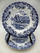 Johnson Brothers - Blue Coaching Scenes - set of 2 Bread & Butter plates... - $9.90