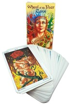 Wheel of the Year Tarot Oracle Deck Pagan Wiccan Cards Divination in 5 L... - $17.71