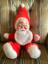 MY TOY SANTA CLAUS plush doll stuffed rubber face vintage like Rushton - $149.99