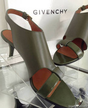 NEW GIVENCHY Lucrezias Leather & Patent Leather Slingback Sandals (Size 38) - $499.95