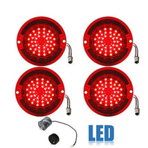 63 Chevy Impala Bel Air Biscayne Red LED Tail Light Lens & Flasher Set of 4 - $159.95