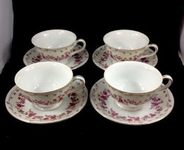 Vintage Fine China Tea Set Featuring Roses and Gold Trim 8 Piece Set By ... - $18.99