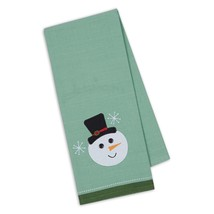 """Snowman Embellished Kitchen Dish Towel New 18"""" x 28"""" Button Eyes Tea Cot... - $14.84"""