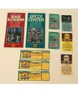 Disney Epcot Center Magic Kingdom Guide Books Maps Ticket Parking Passes... - $34.99