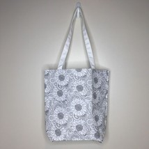 """DIY Fabric To Color Sunflower Tote Bag White Straps 14""""x13""""x4"""" - $14.84"""
