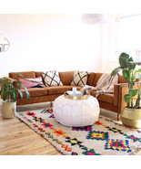 Made to Order – Large Moroccan Pouf Ottoman– EXTRA LARGE, 31″x16″ - $336.00
