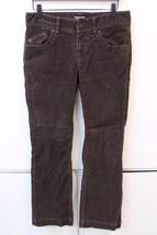 W12865 Womens Ralph Lauren Polo J EAN S Brown Corduroy Wendy Jean Pants Size 8P - $30.86