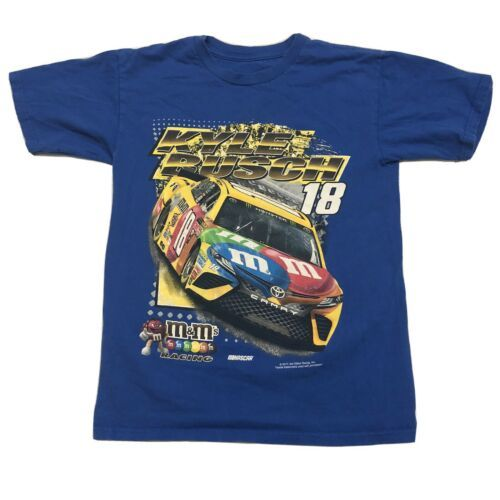 Primary image for Kyle Busch M&M's T Shirt Small Blue 2017 Joe Gibbs Racing