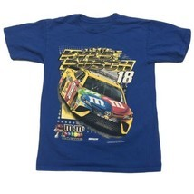 Kyle Busch M&M's T Shirt Small Blue 2017 Joe Gibbs Racing  - $18.69