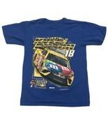 Kyle Busch M&M's T Shirt Small Blue 2017 Joe Gibbs Racing  - $18.69