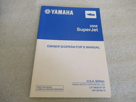 Yamaha 2008 SuperJet Owner's/Operator's Manual P/N LIT-18626-07-20 - $29.71