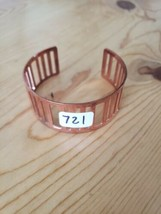 721 Copper Slotted Cuff Bracelet (New) - $8.58
