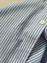 Jones New York Signature Woman Non Iron Blue & White Pinstripe Button-Up Blouse  image 4