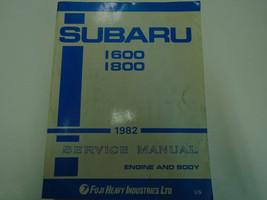 1982 Subaru 1600 1800 Service Repair Shop Engine Body Manual FACTORY FEO BOOK - $118.74