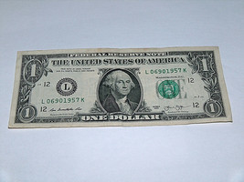 2013 Dollar Bill US Bank Note Year Date Birthday 0690 1957 Fancy Money S... - $13.89