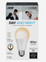 FEIT Electric DAY & NIGHT Intellibulb LED Smart Bulb Color Changing 60 Watt A19 - $15.99