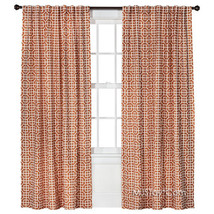 NEW Threshold One Window Treatment Panel Red Tile 54x95 Curtain 2 Hanging Styles - $29.99