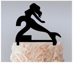 2nd Birthday Anniversary Cake topper,Cupcake topper,silhouette my mermaid 11 pcs - $20.00