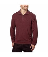 Hudson River Mens Sweater Pullover 1/4 Zip Red Wine Marl Big & Tall Sizes - £17.89 GBP+