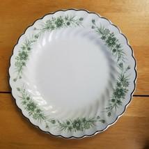 Johnson Brother Snowhite Regency Ironstone Dinner Plate White Green Flor... - $5.93